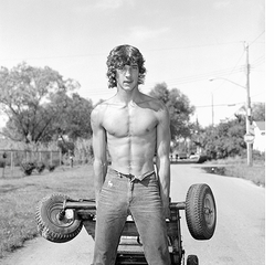 Christine Osinski: Summer Days Staten Island, Young Man Pulling a Go Cart