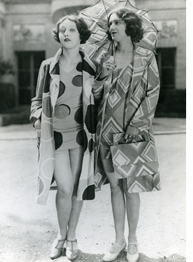 """Featured image, <i>Models wearing beachwear designed by Sonia Delaunay, 1928</i> is reproduced from <a href=""""9780910503846.html"""">Color Moves: Art & Fashion by Sonia Delaunay</a>."""