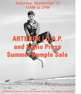 Come to the ARTBOOK | D.A.P. & Siglio Press Los Angeles Sample Sale