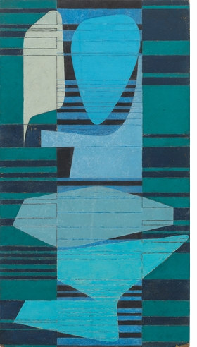 Wifredo Arcay's untitled, undated 1950s painting, above, is reproduced from 'Concrete Cuba: Cuban Geometric Abstraction from the 1950s.'