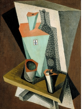 """Diego Rivera, """"Still-life with Green House"""" (1917), from """"Cubism and War."""""""