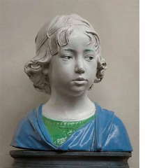 Della Robbia: Sculpting with Color in Renaissance Florence, Bust of a Boy