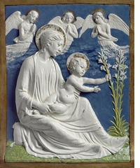 Della Robbia: Sculpting with Color in Renaissance Florence, Madonna and Child with Lilies