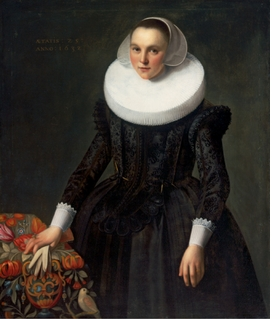 """Frans Pietersz de Grebber, """"Portrait of a 25-Year-Old Woman"""" (1632), reproduced from 'Dutch Old Masters from Budapest.'"""