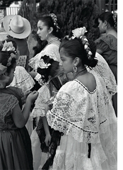 "Ed Templeton: ""Girls in Traditional Mexican Dresses, Olvera Street"" (2004)"