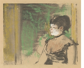 """Cafe Concert Singer"" (c. 1875-76) is reproduced from <I>Edgar Degas: A Strange New Beauty</I>."