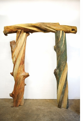 """""""Children�s Arch"""" (1991), gum, 11.5 x 9 x 2.5 feet, is reproduced from <I>Emilie Brzezinksi: The Lure of the Forest</I>."""