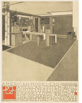 Featured image is reproduced from 'Frank Lloyd Wright: Unpacking the Archive.'