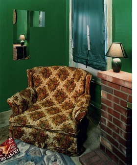 Featured image is Alec Soth�s photograph <i>Sugar�s, Davenport, Iowa</i>, from 2002.  <p>�The accumulated weight of what has gone before obliges Soth to shift sideways, to move forward by drifting laterally. Traces of earlier photographic projects float throughout his work, changed by their journey�It is, in other words, not just a place that Soth is photographing; it�s also, unavoidably, a tradition that extends up to the present (and continues to be extended as Soth himself � already! � becomes an influence). That autumnal chair in Sugar�s place looks as if it is still warm from � still bears the imprint of � Eggleston�s sitting in it (photographically speaking).�  <p> Quote is from Geoff Dyer�s essay �Riverrun� in <a href=�http://www.artbook.com/9780935640960.html�>From Here to There : Alec Soth�s America</a>.