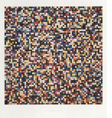 Gerhard Richter Poster Number 5: 4096 Colors, 1974