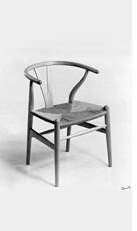 The Wishbone Chair CH24 (1959) is reproduced from <I>Hans J. Wegner: Just One Good Chair</I>.