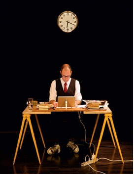 Featured image, of Brian Dillon at his temporary desk at <I>Cabinet</I>, is reproduced from <I>I Am Sitting in a Room.</I>