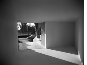 "Featured image is Michael Asher's ""No Title,"" installed at the Pomona College Art Gallery in 1970, and reproduced from <a href="" 9780981895581.html"">It Happened at Pomona</a>. Asher�s architectural intervention dramatically altered two of the Museum's adjacent galleries, transforming them into triangular spaces joined by a narrow opening that restricted the flow of light into one space while keeping the other permanently open to the street by removing the entrance doors. By ""opening"" the museum, Asher initiated the conceptual art practice known as ""institutional critique;"" this piece is consequently widely considered one of the most important artworks produced in the United States during this period."