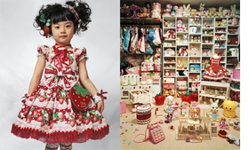 """""""Kaya is four years old. She lives with her parents in a small apartment in Tokyo, Japan. Most apartments in Japan are small because land is very expensive to buy and there is such a large population to accommodate. Kaya's bedroom is every little girl's dream. It is lined from floor to ceiling with clothes and dolls. Kaya's mother makes all Kaya's dresses--up to three a month, usually. Now Kaya has thirty dresses and coats, thirty pairs of shoes, sandals and boots, and numerous wigs. (The pigtails in the featured image, reproduced from <a href=""""9781905712168.html"""">James Mollison: Where Children Sleep</a>, are made from hairpieces.) Her friends love to come round to try on her clothes. When she goes to school, however, she has to wear a school uniform. Her favorite foods are meat, potatoes, strawberries and peaches. She wants to be a cartoonist when she grows up, drawing Japanese 'anime' cartoons."""""""