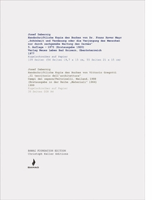 Josef Dabernig: Handwritten Copies