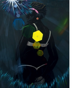"""Small Pin-Up (Lens Flare)"" (2013) is reproduced from <I>Kerry James Marshall: Painting and Other Stuff</I>."