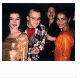 "Featured image is a Polaroid by 80�s fashion diva Maripol of her friends; <i>(from left)</i> actress Debi Mazar, artist <a href=""http://www.artbook.com/catalog--art--monographs--haring--keith.html"">Keith Haring</a>, fashion designer Jacqueline Schnabel (first wife of Julian Schnabel), and Tereza Scharf (artist <a href=""http://www.artbook.com/catalog--art--monographs--scharf--kenny.html"">Kenny Scharf's</a> wife) partying in the 80�s. <p>Maripol�s recent monograph, <a href=""http://www.artbook.com/9788862081368.html"">Maripol: Little Red Riding Hood</a>, features hundreds of nearly-lost gems like this one."