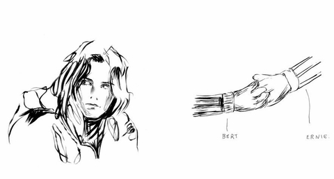 Mike Mills Drawings from the Film Beginners