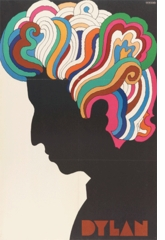 "Milton Glaser: ""Dylan,"" iconic poster for Capitol Records, 1966"