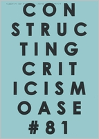 OASE 81: Constructing Criticism