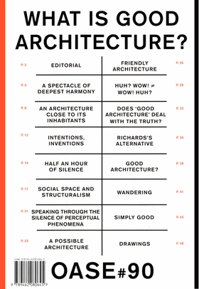 OASE 90: What Is Good Architecture?