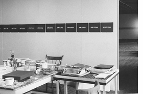 Featured image, of On Kawara's studio, is reproduced from 'On Kawara: 1966.'