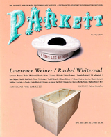 Parkett No. 42 Lawrence Weiner, Rachel Whiteread