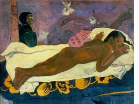 "Featured image, ""Manao tupapau (The Spirit of the Dead Watching)"" 1892, is reproduced from <I>Paul Gauguin: Where Do we Come From? What Are We? Where Are we Going?</I>"
