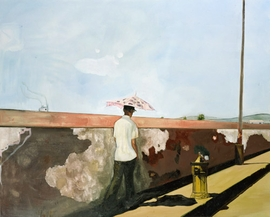 """""""Lapeyrouse Wall"""" (2004) is reproduced from <I>Peter Doig: No Foreign Land</I>."""