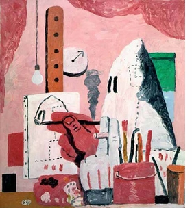"""The Studio"" (1969) is reproduced from <I>Philip Guston: Late Works</I>."