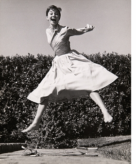 Featured photograph, of Audrey Hepburn, is reproduced from <i>Philippe Halsman's Jump Book</i>.
