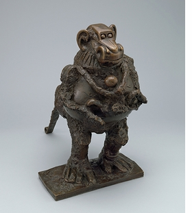 "Pablo Picasso, ""Baboon and Young Vallauris"" (1950-1), is reproduced from <i>Picasso Sculpture</i>."