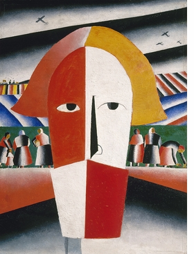 "Featured image: Kazimir Malevich, ""Head of a Peasant,"" 1928–29. Oil on plywood, 28 1/5'' x 21 1/5''. State Russian Museum. Photo © 2016, State Russian Museum, St. Petersburg."