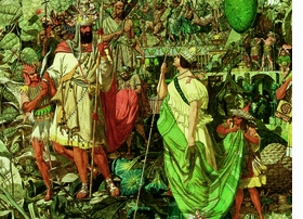 "Featured image, reproduced from <a href=""http://www.artbook.com/9781935202684.html"">Richard Dadd: The Artist and the Asylum</a>, is a detail from Dadd's painting <i>Contradiction: Oberon and Titania</i>, Oil on canvas, 1854–8."
