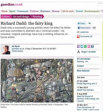 Richard Dadd: The Artist and the Asylum, in the Media