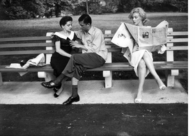 Featured image is Sam Shaw's photograph, <i>Marylin Monroe on park bench, Central Park, New York City</i> from 1957.