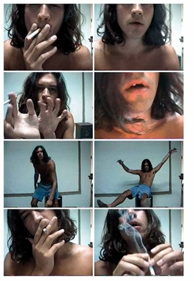 Featured images are stills from Sean Landers' 1993 video <I>Narcissus</I>.