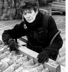 """Featured image, """"Portrait of Ursula von Rydingsvard with Conjugation"""" (2012), is reproduced from <I>She�s Got What It Takes</I>. Photo: Andria Morales � Ursula von Rydingsvard, Courtesy Galerie Lelong, New York."""