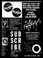 Slash: A Punk Magazine from Los Angeles