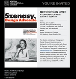 Metropolis Live! Susan S. Szenasy to Speak in Boston