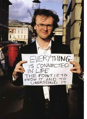 """Featured image, Gillian Wearing's """"Signs that say what you want them to say and not Signs that say what someone else wants you to say: Everything is connected in life. The point is to know it and to understand it."""" (1992�93) is reproduced from <I>The Art Life: On Creativity and Career</I>."""
