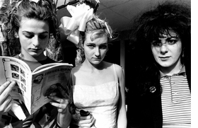 "Featured image -- of the Slits at the Tropicana Motel in 1980 -- is from <a href=""9781935202271.html"">The Beautiful & the Damned</a>, Ann Summa's book of photographs of the 1970s L.A. punk scene, reviewed in the September 9, 2010 <a href="" http://www.latimes.com/entertainment/news/la-et-punk-photoshow-20100909,0,7532199.story"">Los Angeles Times</a>, from which this quote is drawn: ""'I saw people shooting up in the bathroom at the Whiskey and the Roxy. And then people started dying,' says Summa. 'I feel like that's still a part of music, but when you have a camera between you and a subject there's this distance.' And that distance is what gives the photos in <I>The Beautiful and the Damned</I> their eerie, resonant power. Looking at them is like peering through a looking glass into another time when music was made, however briefly, not for money or fame, but because of a deep need to be a part of something unique and autonomous. The beauty was in the belonging."""