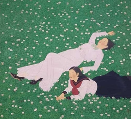 "Featured image, Tateishi Harumi's 1934 painting, ""Clover,"" is reproduced from <I>The Brittle Decade: Visualizing Japan in the 1930s</I>."