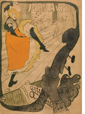 """""""Jane Avril"""" (1893) is reproduced from <I>Toulouse-Lautrec in the Collection of The Museum of Modern Art</I>."""