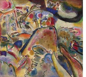 """""""Small Pleasures"""" (1913) is reproduced from <I>Vasily Kandinsky: From Blaue Reiter to the Bauhaus, 1910-1925</I>."""