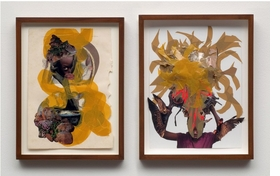 "The alluring and intricate collages of Kenyan-born, New York-based artist Wangechi Mutu (born 1972) draw the viewer into narratives of beauty, consumerism, colonialism, race, identity and gender politics.  <p>Featured image is Wangechi Mutu�s <i>""You can't fly""</i>, from 2008, two watercolor and mixed media collages on paper.</i> Mutu�s works on paper and videos are documented in <a href=""http://www.artbook.com/9781894243643.html""> Wangechi Mutu: This You Call Civilization?</a>, published by the Art Gallery of Ontario, Toronto."