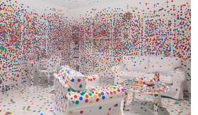 Featured image is reproduced from <I>Yayoi Kusama: Give Me Love</I>.