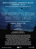 Celebrate 'You Should've Heard Just What I Seen' with DJ set by Matthew Higgs Friday, March 7 at Gavin Brown's Enterprise
