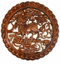 Carved Chinese Wood Plaque - Mythical Qilin (Kylin)  #27