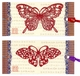 Chinese Bookmarks with Butterfly Paper Cuts (Set of 2) #7